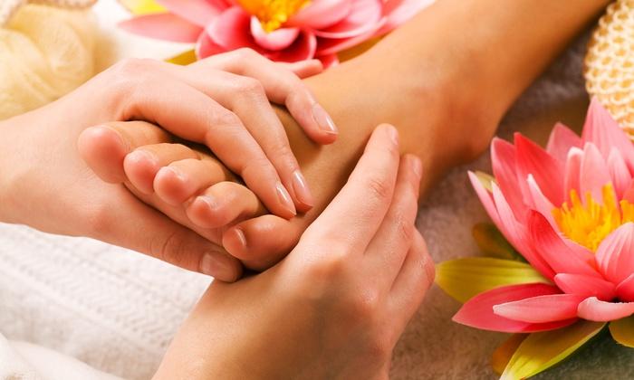 Foot Reflexology with flower